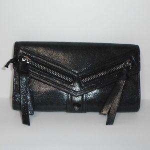 Botkier Black Leather Trigger Flap Wallet